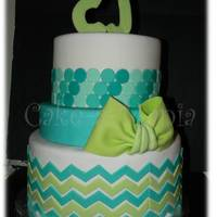 3 Tier Baby Shower Cake Chevron And Ombre Circles Adorn This Cake For Baby Cj 3 tier baby shower cake chevron and ombre circles adorn this cake for baby CJ.