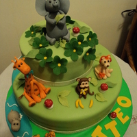 Animals, Baby Shower Cake It was my first cake with animals, I had so much fun, I was so happy with the result.