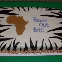 African Themed Graduation Cake