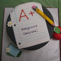 Preschool Celebration Alledible, Fondant and gumpaste. Edible marker for writing.
