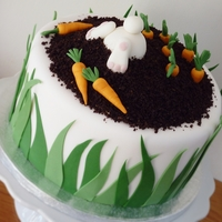 Bunny Carrot Cake I made this funny bunny carrot cake with inspiration from many others here on Cake Central!It's -ofcourse- carrot cake (8 inch) inside...