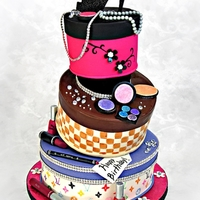 Fashionista Hat Box Cake Made for a regular client. My first time doing this design. Not sure if I did it right, but it was sturdy and didn't fall so I'll...