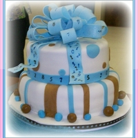 Baby Boy ~ Baby Shower Covered in fondant with fondant accents