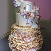 Romantic Ruffled Wedding Cake romantic ruffled wedding cake... :)