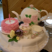 Teaparty   Finally had the opportunity to make a teapot cake for my mother in laws 80th surprise birthday tea party!