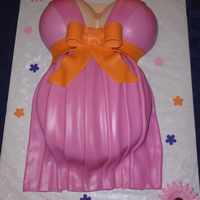 Pregnant Belly Cake All fondant. TFL.