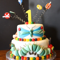 Hungry Caterpillar 1st birthday cake for my BF Granddaughter