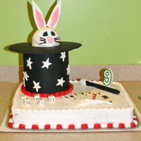 Bunny In The Hat Birthday Cake For A Magician Themed Bday Bunny In The Hat Birthday Cake ; for a magician themed B'day