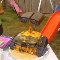 Wall-E I made this cake for my 6 year old, he was thrilled with it.