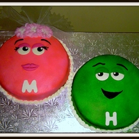 Jack & Jill M&ms All bc with some fondant details