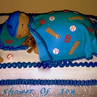 Sleeping Baby all bc with fondant details