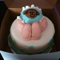Baby Butt Cake There for awhile we were doing a baby butt cake every weekend. Here is my favorite. It is RCT covered in fondant. The cake is vanilla bean...
