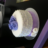Simply Purple Simple little cake I did as a top tier for a wedding this past weekend.