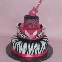 Diva Rock! I made this cake for my daughters rock star birthday. She wanted something girly, yet cool.....