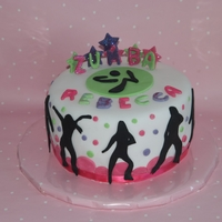 Zumba Cake Made for a little girls zumba party