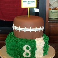 Football Birthday Cake Football birthday cake.