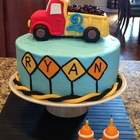 Construction Dump Truck Cake Construction themed birthday party.
