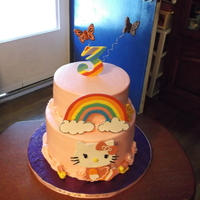 Happy 3Rd Birthday hello kitty 3rd birthday cake for a for a little girl.