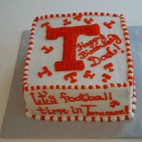 Ut Vols Cake UT cake for my dad....huge UT fan. Made with butter cream icing