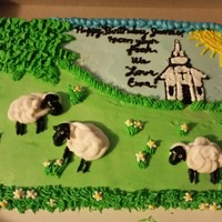 "Vanilla Cake And Buttercream Icing Birthday Cake For A Pastor From His Flock Vanilla cake and buttercream icing. Birthday cake for a pastor from his ""flock""!"