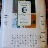 Kindle I made this cake for my Pastor. It was his birthday, and he is always on his Kindle. The image is of a book that he is currently reading....