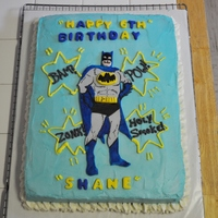 Batman Cake Speckled white cake,BC Icing,Batman is fondant....
