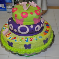 Happy 15Th Birthday Cassandra Cake,fondant,bc icing candies