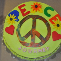 Happy 11Th Birthday Journey. cake,BC icing,Fondant decorations