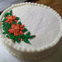 Poinsetta   butter cream