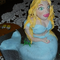 Mermaid Vanilla Sponge cake body and RKT head.