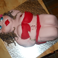 Fat Lady Vanilla sponge cake covered in fondant
