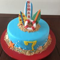 Surfing Birthday Cake