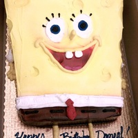 Sponge Bob   Sculpted, Iced in whipcream, air spray