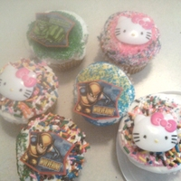 Ny Loves To Decorate   Cupcakes iced all on her own. Sprinkles, sprinkles and more sprinkles