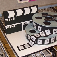 Movie Reel Cake This was made for a teacher appreciation day based on an awards theme. Very fun to make