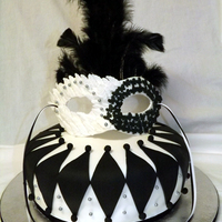 Masquerade Cake For Retiring Co-Worker For a co-worker that does a lot of local theater. Real feathers....gumpaste mask. Homemade choc cake with Gharirdelli choc ganache. 10/9...