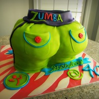 Zumbalicious Booty This has got to be the CRAZIEST cake I have done yet, hahaha!!!!! A BIG O' ZUMBA BUTT for my friend Carol's 4oth birthday! She&#...
