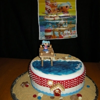 Lalaloopsy Marina Bday Marina at the beach and lighthouse.Everything is edible accept for the Marina doll. TFL
