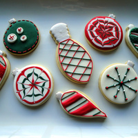Christmas Ornament Cookies Sugar cookies decorated with royal icing. Thanks for looking!