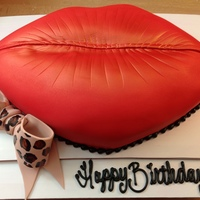 Hand Carved Lip Cake