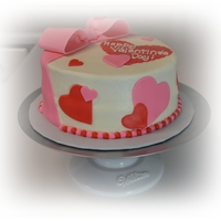 Valentine's Cake   Buttercream cake with fondant and gumpaste decorations