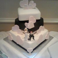 My Sisters Wedding Cake The wedding cake that i done for my sisters wedding on the 2nd august 2008 it was such a perfect day the cake is fruit cake every tier with...