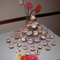 Wedding Cupcakes Cupcakes To match the Hot pink wedding cake