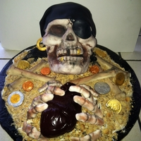 Buried Alive  This poor pirate has been buried alive and is left to hold his beating heart. That's right, his edible heart really beats. Wish I...