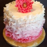 Ruffle Cake With Ruffle Flower Yellow Cake With Strawberry Smbc Ruffle cake with Ruffle flower. Yellow cake with Strawberry SMBC