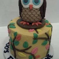 Look Who's Turning 1! Owl is Styrofoam covered in MMF decor and meant to be a keepsake.