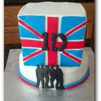 One Direction This cake was for my niece. Square is chocolate cake with chocolate ganache. Round is chocolate cake with vanilla buttercream. All decor is...