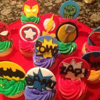 Superhero Cupcake Toppers MMF Superhero cupcake toppers made for my nephew
