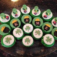St. Patrick's Day Toppers For my niece's birthday on St. Patrick's Day. They were shipped to Arkansas from Texas and a few cracked :(