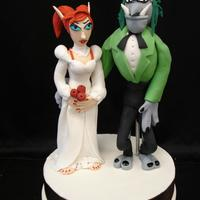 Warcraft Wedding Topper This fun topper was created for two huge fans of World of Warcraft.